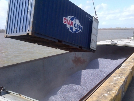 Bulk, Breakbulk or Project Cargo from Barge to Warehouse, Truck or Rail Car